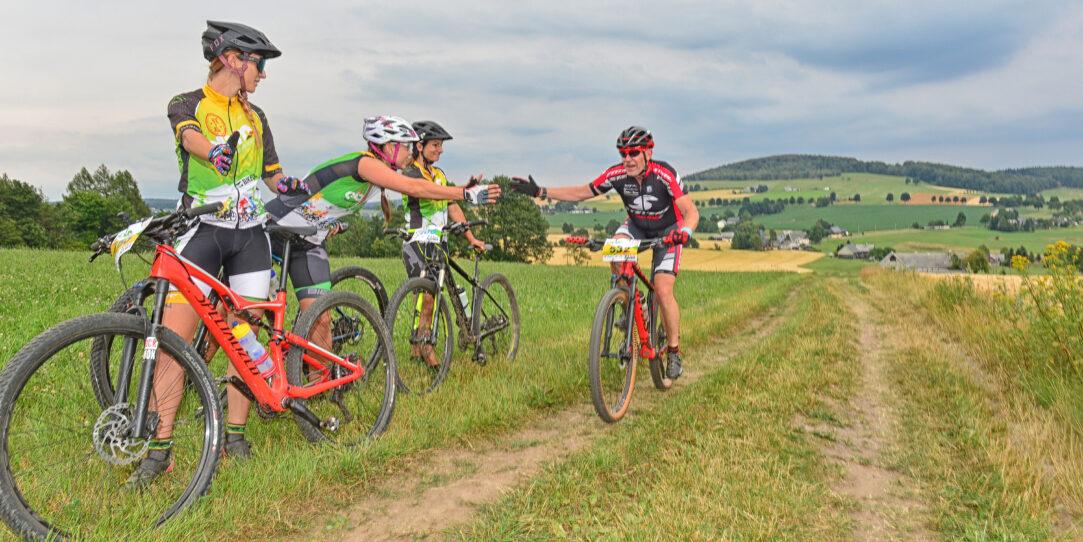 EBM individual Teilnehmer auf Anstieg Reicheltberg