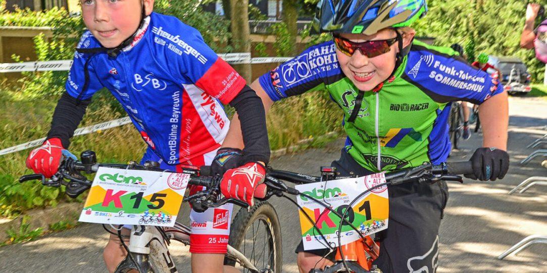 29. Erzgebirgs-Bike-Marathon EBM-Mini Radfahrer im Schlussanstieg